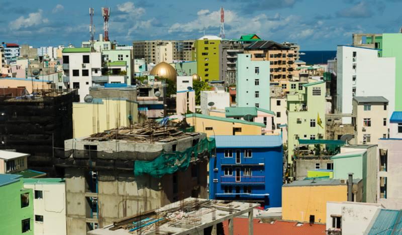 Расположение домов на Мальдивах